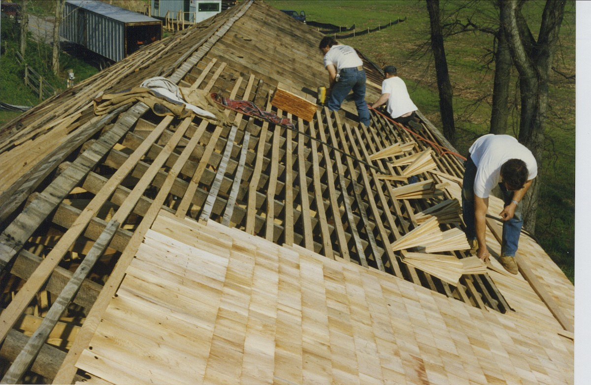 Cedar Shingles Are Cut On Both Sides From A Solid Block Of