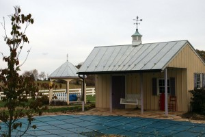 This custom curved Standing Seam Metal Roof is an example of true craftsmanship!