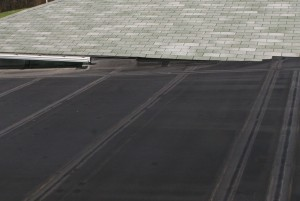 Low sloping roofs are sometimes good candidates for rubber roofing.