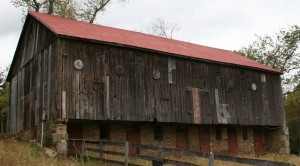 A freshly painted roof really transforms this barn!