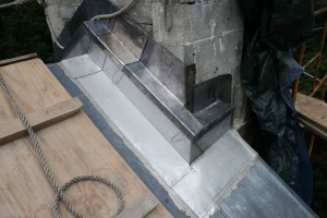 Lead flashing is a great choice for complicated areas as it is malable and very durable.