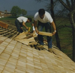 Proper layout is essential when installing cedar shingles.