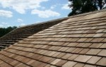 Cedar shingles are cut on both sides from a solid block of cedar.